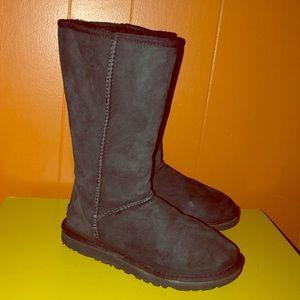 UGG Classic Tall Black Sheepskin Boots 5815